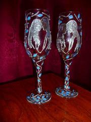Продаю свадебные бокалы (бокалы для молодоженов)